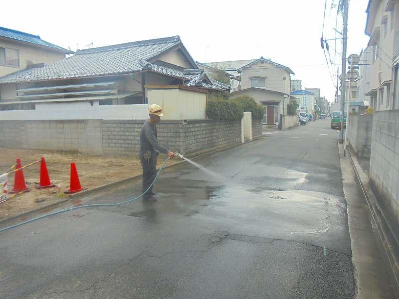 前面道路清掃・完了